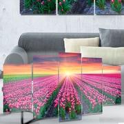 DesignArt 'Blooming Tulips at Sunrise' Photographic Print