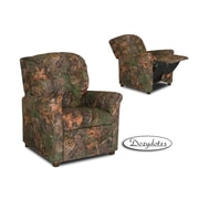 Dozy Dotes 4 Button Kid's Camo Recliner; Camouflage Green with True Timber