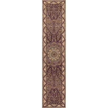 Nourison 2000 Brown/Red Area Rug; Runner 2'6'' x 12'