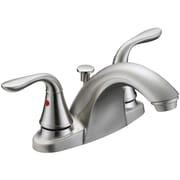 Aqua Plumb Double Handle Single Hole Standard Bathroom Faucet with Drain Assembly