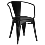 Edgemod Trattoria Arm Chair; Black