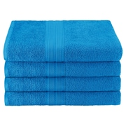Simple Luxury Superior Bath Towel (Set of 4); Aster Blue