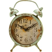 American Mercantile Metal Magnet Clock; Blue