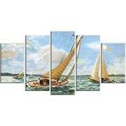 DesignArt 'Vintage Boats Sailing' Graphic Art