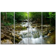 DesignArt Metal 'Natural Spring Waterfall' Photographic Print