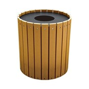 Frog Furnishings 32-Gal Recycled Plastic Trash Receptacle with Lid