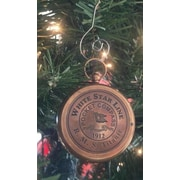 Handcrafted Nautical Decor RMS Titanic Star Pocket Compass Christmas Ornament; Antique Brass