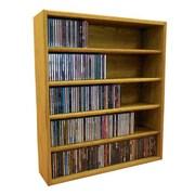 Wood Shed Multimedia Storage Rack; 30.75'' H x 26.87'' W x 6.75'' D