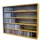 Wood Shed Multimedia Storage Rack; 30.75'' H x 39.43'' W x 6.75'' D