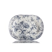 222 Fifth Adelaide Blue 14  Oval Platter