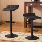 Roundhill Furniture Belham 34'' Swivel Bar Stool (Set of 2)