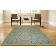 Abacasa Aspen Vines Hand-Knotted Green Area Rug