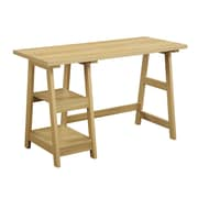 Convenience Concepts Inc. Trestle Desk Home Office Trestle Light Oak