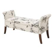 Convenience Concepts Inc. Designs4Comfort Ottomans/Garbo Collection Ottoman Botanical Fabric (143634FBT)
