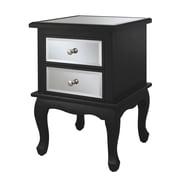 Convenience Concepts Inc. Gold Coast Mirrored End Table End Mirror/Black (416553BL)