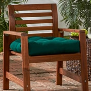 Greendale Home Fashions Outdoor Sunbrella Dining Chair Cushion; Forest Green
