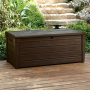 Keter Brightwood 120 Gallon Plastic Deck Box; Brown