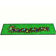 Kids World Caterpillar Green Area Rug; Runner 3'3'' x 12'