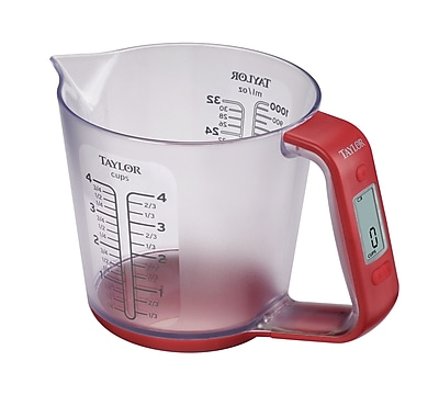 Taylor 4 Cups Digital Scale w/ Measuring Cup WYF078275688784