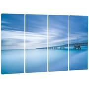 DesignArt Metal 'Industrial Pier in the Sea' Photographic Print
