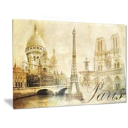 DesignArt Metal 'Old Beautiful Paris' Photographic Print; 12'' H x 28'' W
