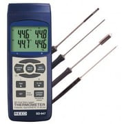 REED Instruments SD-Series Thermocouple Thermometer Datalogger Kit, 4 Channel (SD-947DELUx E)