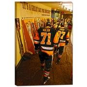Frameworth – Penguins de Pittsburgh. toile de la LNH, Penguins de Pittsburgh, 20 x 29 po, noir/doré