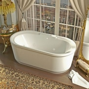 Spa Escapes Royal 66.78'' x 33.62'' Oval Freestanding Soaking Jetted Bathtub w/ Center Drain