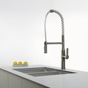 Kraus Nola  Single Lever Commercial Style Kitchen Faucet; Stainless Steel