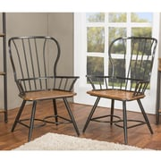 Wholesale Interiors Longford Arm Chair (Set of 2); Black
