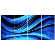 DesignArt Metal 'Blue/Black Transition' Graphic Art
