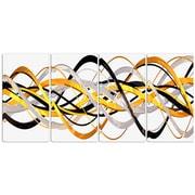 DesignArt Metal 'Gold/Silver Helix' 4 Piece Graphic Art Set