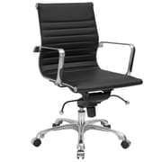 Edgemod Mid-Back Executive Office Chair with Arms; Black