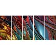 DesignArt Metal 'Leaves of Color' Graphic Art