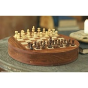 Novica Fair Trade Decorative Wood Chess Game Board Storage Box