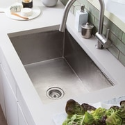Native Trails Cocina 30'' x 18.5'' Kitchen Sink; Brushed Nickel