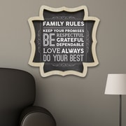 Stratton Home Decor Family Rules Framed Textual Art