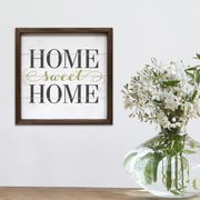 Stratton Home Decor Home Sweet Home Framed Textual Art by