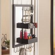 Wildon Home   Janya Over-the-Door Jewelry Mirror Storage Shelf Organizer