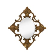 Majestic Mirror Decorative Oval Accent Mirror w/ Traditional Antique Gold Leaf Frame