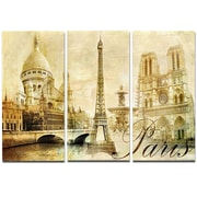 DesignArt Metal 'Old Beautiful Paris' Photographic Print; 28'' H x 36'' W
