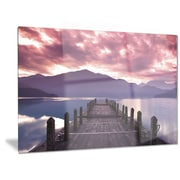 DesignArt Metal 'Beautiful Spring Sea at Morning' Photographic Print; 12'' H x 28'' W