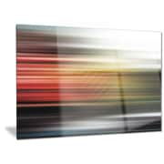 DesignArt Metal 'Horizontal Lights' Graphic Art; 12'' H x 28'' W