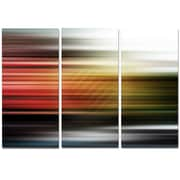 DesignArt Metal 'Horizontal Lights' Graphic Art; 28'' H x 36'' W