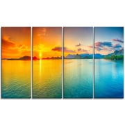 DesignArt 'Bright Sunset Panorama' Photographic print