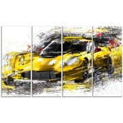 DesignArt 'Black and Yellow Speedster' Graphic Art