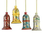 Novica Syed Izaz Hussein 4 Piece Hand Painted Wood Ornament Set