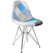 eModern Decor Patchwork Fabric Upholstered Side Chair