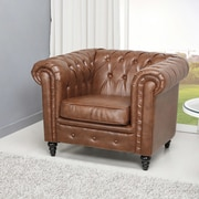 Gold Sparrow Wilmington Button Tufted Arm Chair
