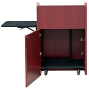 VFI Economy Podium with Rack Mount; Brazilian Walnut